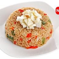 Рис с овощами и яйцом Фото