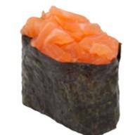 Гункан с острым лососем Фото