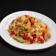 Рис по-тайски с курицей Фото