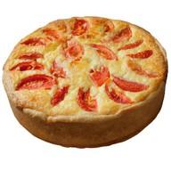 Пицца в заливке с кетой Фото