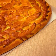 Постный пирог с грибами, рисом, зеленью Фото