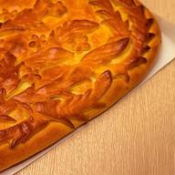 Постный пирог с картофелем,зеленым луком Фото