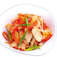 Китайский салат с курицей и овоща Фото