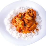 Рис с креветками в карри по-тайск Фото
