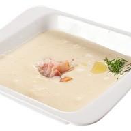 Сырный крем суп с беконом Фото