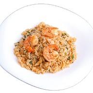 Сладкий рис с креветками и Руккол Фото