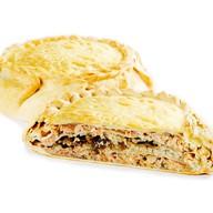 Блинчатый пирог с рыбой Фото