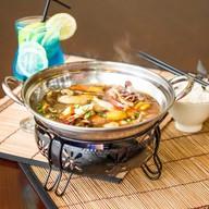 Морепродукты на сковороде Фото