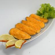 Запеченные мидии с сырным соусом Фото