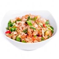 Жареный рис (тяхан) с овощами и яйцом Фото