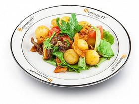Теплый салат с грибами - Фото