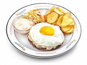 Рубленый стейк с сыром - Фото