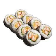 Ролл с лососем темпура Фото