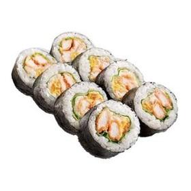 Ролл с лососем темпура - Фото