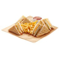 Клаб-сендвич с ветчиной Фото