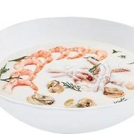 Сливочный с морепродуктами Фото