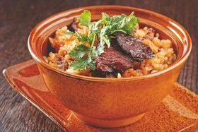Рис жареный с телятиной - Фото