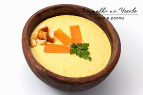 Крем-суп с лососем - Фото