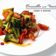 Салат с брокколи и томатами черри Фото