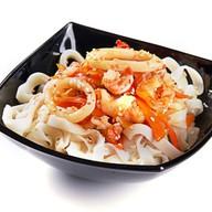 Удон с морепродуктами в соусе терияки Фото