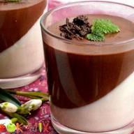 Сливочно-шоколадная паннакотта Фото