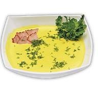 Сырный крем-суп с копченостями Фото