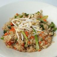 Теппаньяки рис с овощами ланч Фото