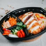 Рис с куриным филе Фото