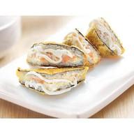 Сэндвич с лососем и крабом Фото