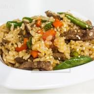 Рис с говядиной под устричным соусом Фото