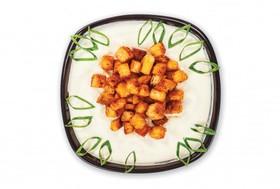 Суп-пюре с сухариками и цыпленком - Фото