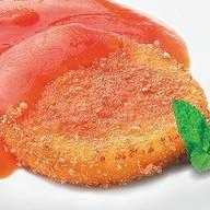 Сыр жареный с морковно-апельсинов Фото
