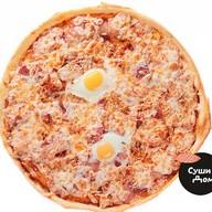 Итальянская Карбонара пицца Фото