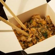 Рис с креветками и омлетом Фото