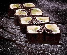 Шоколадный блинчик с фруктами - Фото