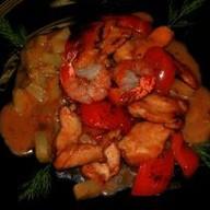 Филе с курицей и креветкой в тайс Фото