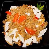 Рис жареный с  овощами Фото