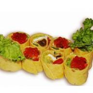 Тортилья с икрой и овощами Фото