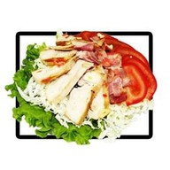 Салат с курицей и беконом Фото
