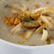 Крем-суп из грибов с сырным печеньем Фото