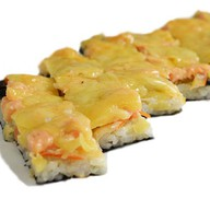Суши-пицца с креветками Фото