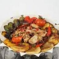 Садж-кебаб из домашнего цыпленка Фото