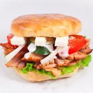 Гирос брынза-бургер Фото