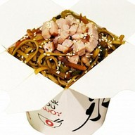 Лапша со свининой и овощами Фото