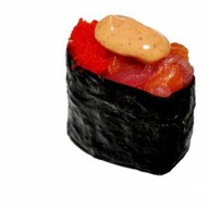 Спайс суши с мясом краба Фото