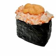 Спайс суши гребешок тобико Фото