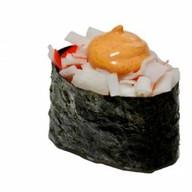 Спайс суши с крабовыми палочками Фото