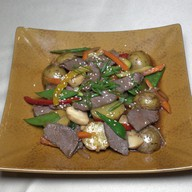 Говядина ВОК с овощным гарниром Фото