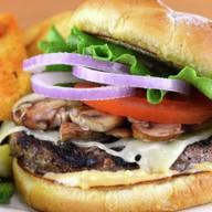 Фрисбургер с грибами Фото