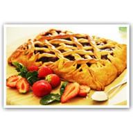 Пирог с клубникой Фото